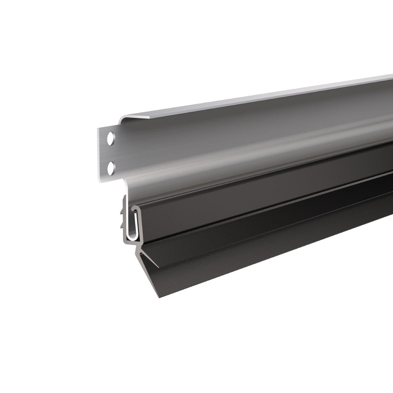 Два лепестка уплотнителей для лучшей герметизации проема